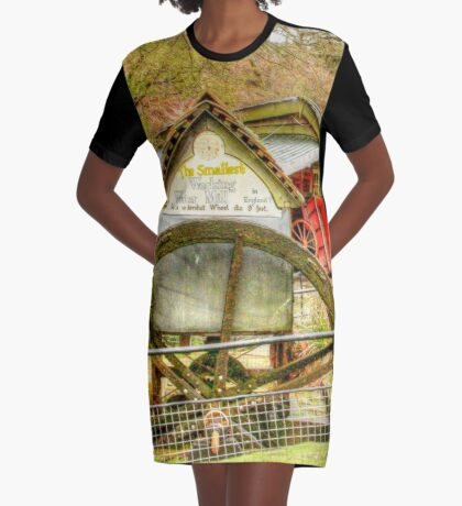 Smallest working water mill Graphic T-Shirt Dress