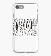 Blah blah iPhone Case/Skin