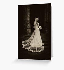 Dead Bride (sepia) Greeting Card