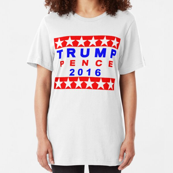 Trump Pence 2016 Red White And Blue USA Elections Slim Fit T-Shirt