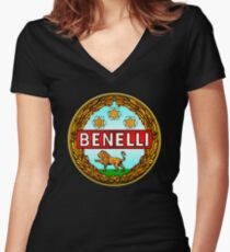 Benelli Vintage motorcycle Italy Women's Fitted V-Neck T-Shirt