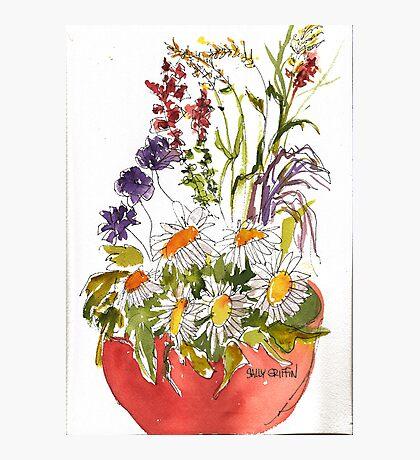 Pot of Flowers Photographic Print
