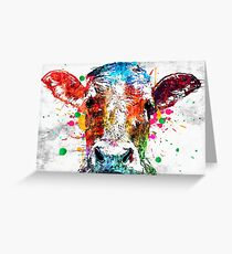 Cow Grunge Greeting Card