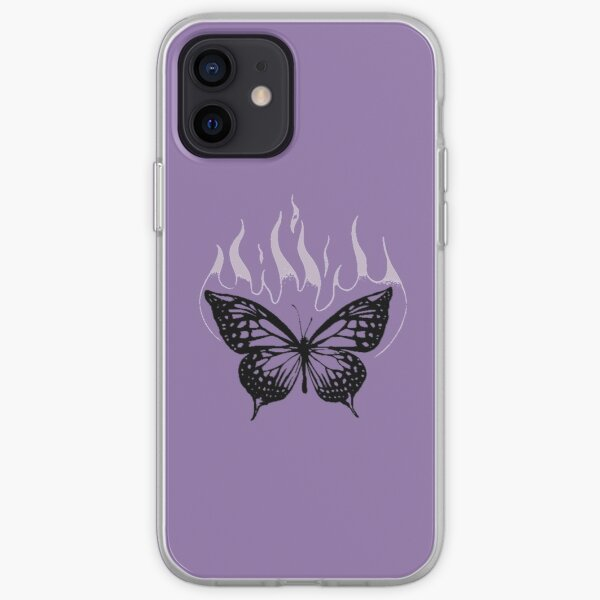 SOUR butterfly on fire iPhone Soft Case