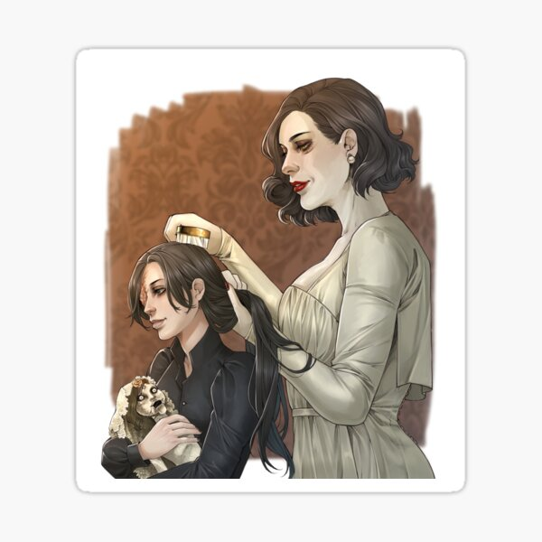Lady Dimitrescu and Donna Sticker