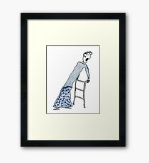Fragile Frida (one-line #122) Framed Print