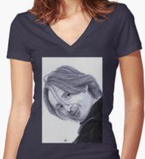 Robert Carlyle Rumpelstiltskin Once Upon a Time Women's Fitted V-Neck T-Shirt