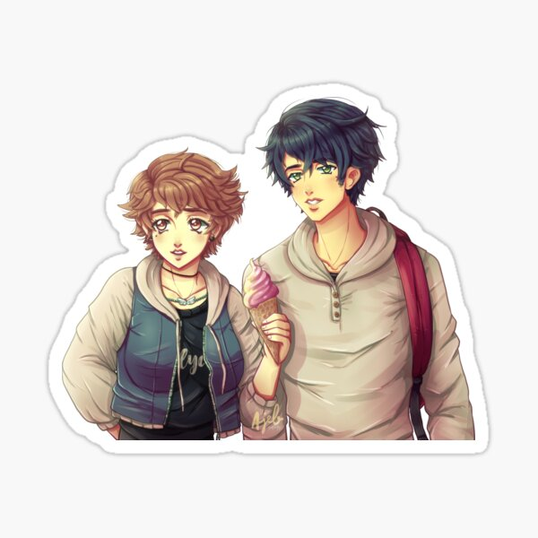 Evan and the main character Sticker