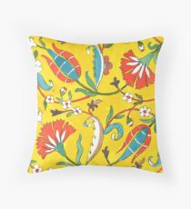 Tulips and Carnations Throw Pillow
