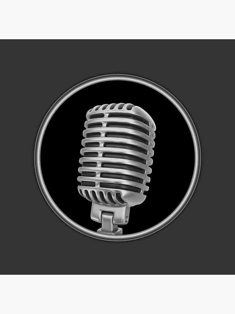 Altes Vintage Mikrofon von Dardman