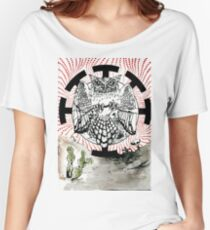 Nostradamus is a  great horned owl that lives in my neighborhood. Women's Relaxed Fit T-Shirt