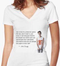 Joe Sugg - WEIRDNESS Women's Fitted V-Neck T-Shirt