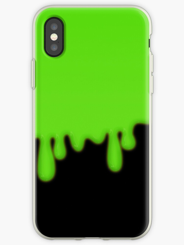 online store b5420 0cbe0 'Dripping Green Toxic Slime' iPhone Case by bitsnbobs