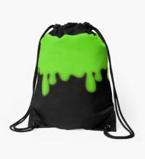 Dripping Green Toxic Slime Drawstring Bag