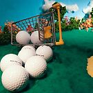 Lets Play Golf - Shopping Cart by Alex Grisward