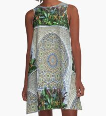 Mosaic and Planter A-Line Dress