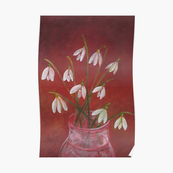 Snowdrops painting Poster