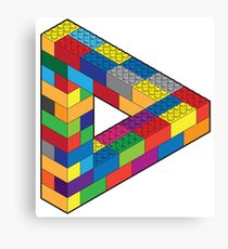 Play with Me: Lego Penrose Toy Triangle Impossible Object Illusion Canvas Print