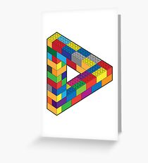 Play with Me: Lego Penrose Toy Triangle Impossible Object Illusion Greeting Card