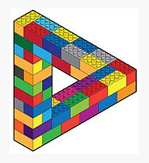 Play with Me: Lego Penrose Toy Triangle Impossible Object Illusion Photographic Print