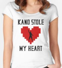 Mortal Kombat - Kano Stole My Heart Women's Fitted Scoop T-Shirt