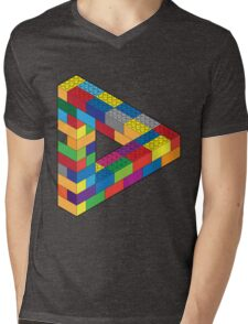 Play with Me: Lego Penrose Toy Triangle Impossible Object Illusion Mens V-Neck T-Shirt