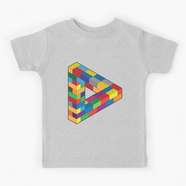 Play with Me: Lego Penrose Toy Triangle Impossible Object Illusion Kids T-Shirt