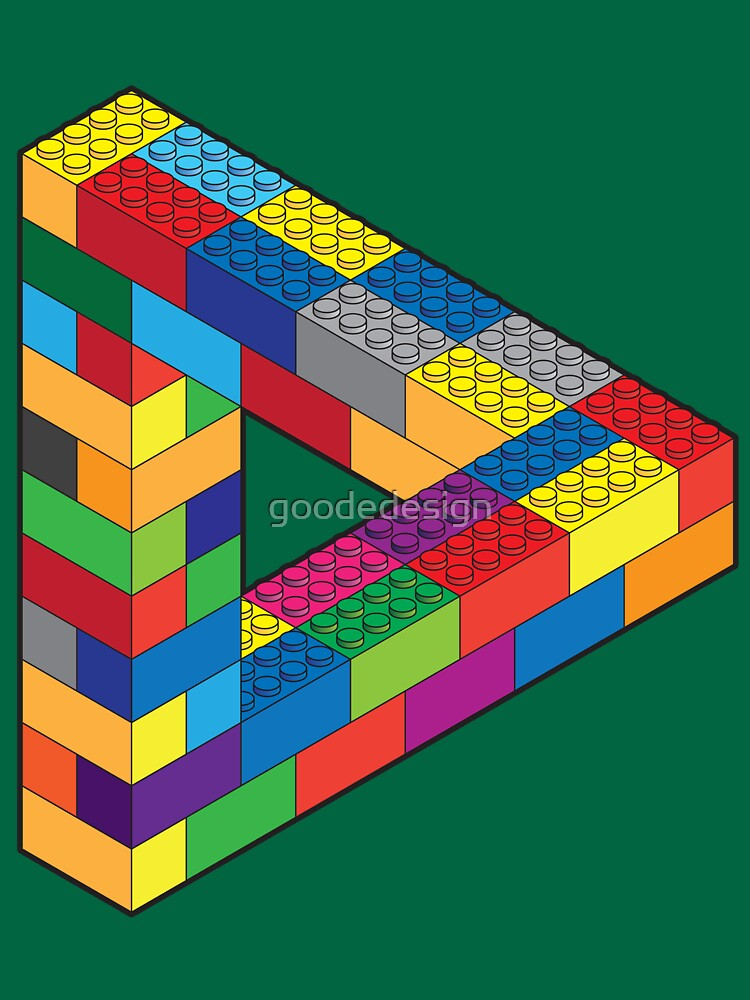 Play with Me: Lego Penrose Toy Triangle Impossible Object Illusion by goodedesign