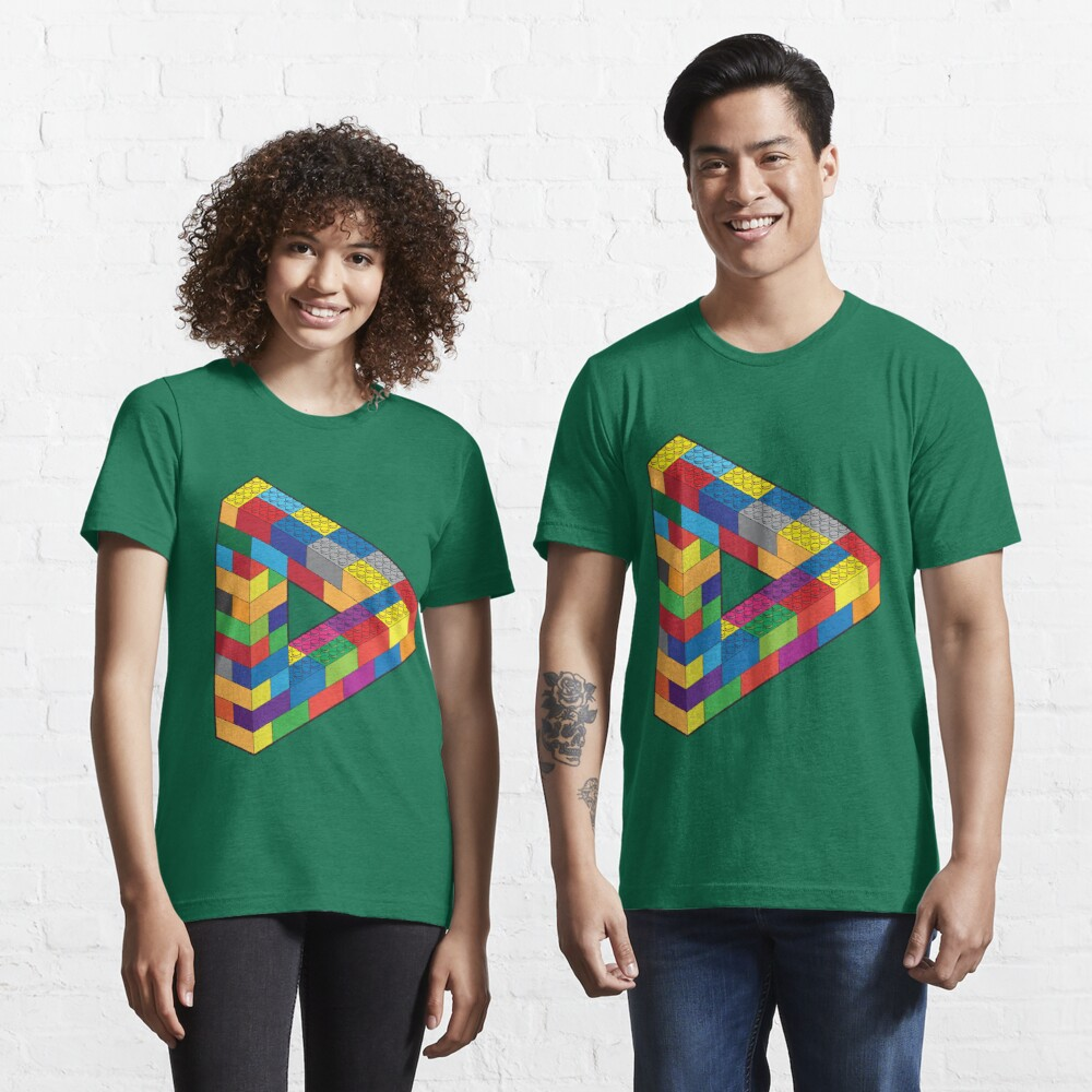 Play with Me: Lego Penrose Toy Triangle Impossible Object Illusion Essential T-Shirt