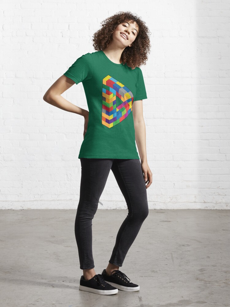 Alternate view of Play with Me: Lego Penrose Toy Triangle Impossible Object Illusion Essential T-Shirt