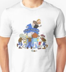 Zombie chasing the Doctor T-Shirt
