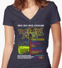 NAZ NOMAD AND THE NIGHTMARES Women's Fitted V-Neck T-Shirt