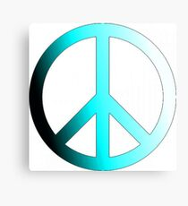 faded blue peace sign Canvas Print