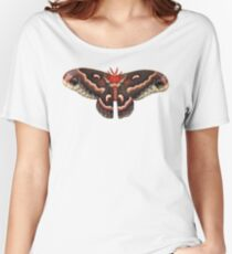 Hyalophora Cecropia Moth (white background) Women's Relaxed Fit T-Shirt