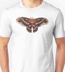 Hyalophora Cecropia Moth (white background) Unisex T-Shirt