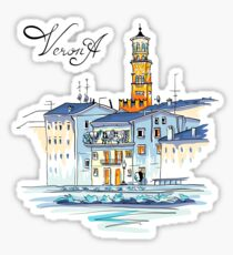 Tower Lamberti in Verona, Italy Sticker