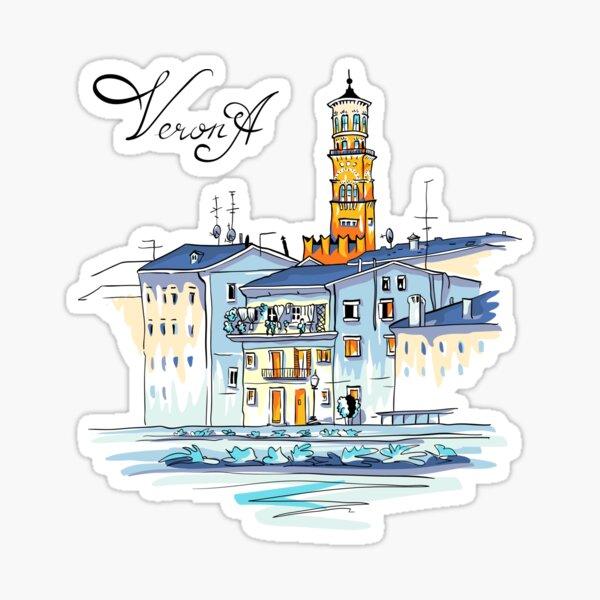 Tower Lamberti in Verona, Italy Sticker