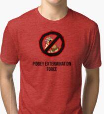 Pokemon GO: Pidgey Extermination Force T-Shirt (Tasteless) Tri-blend T-Shirt