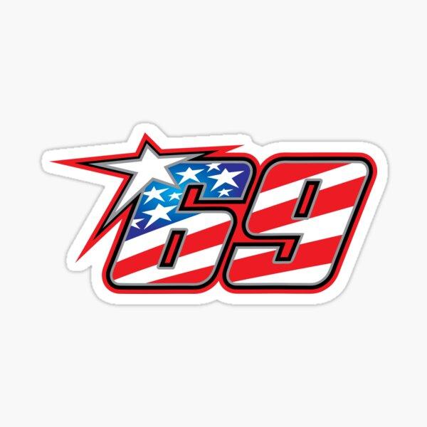 Nicky Hayden Number 69 Sticker
