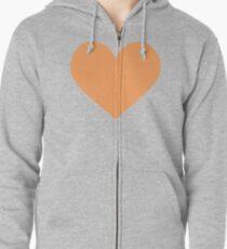 Heart Zipped Hoodie