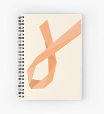 Geometric Womb Cancer Ribbon Spiral Notebook