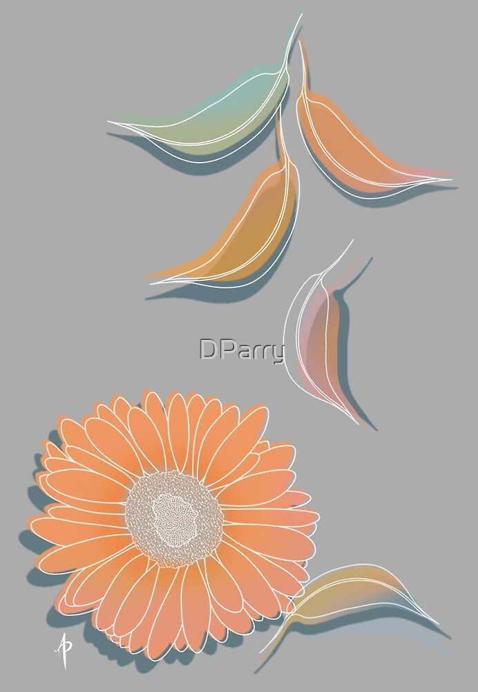 Peach Floral by DParry