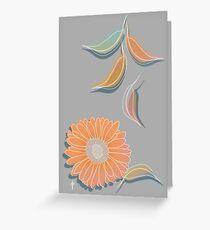 Peach Floral Greeting Card