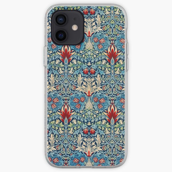 Snakeshead pattern by William Morris iPhone Soft Case
