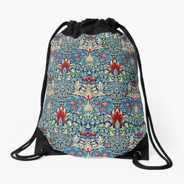 Snakeshead pattern by William Morris Drawstring Bag