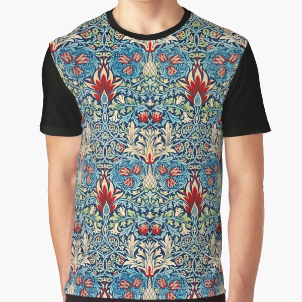 Snakeshead pattern by William Morris Graphic T-Shirt