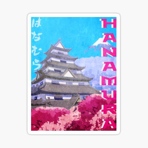 Hanamura Vintage Travel Poster Sticker