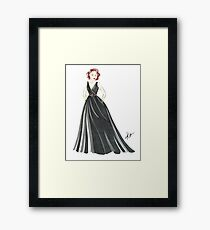 Black Widow, Evening Gown  Framed Print