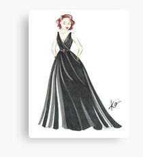 Black Widow, Evening Gown  Canvas Print