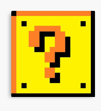 Mario Brothers Mystery Box Canvas Print